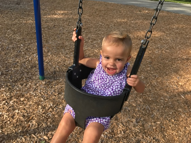 Valentina loves the swing!